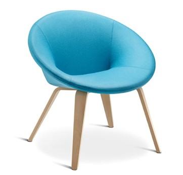 Austen Chair in blue by Connection - BIM interior objects brought to you by BIMBox