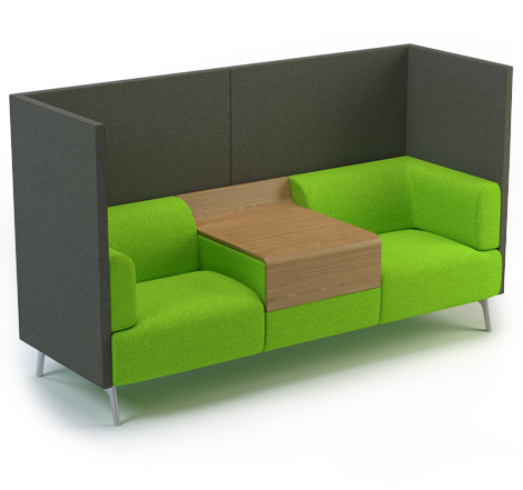 Tryst Console in Green by Connection - BIM interior objects brought to you by BIMBox