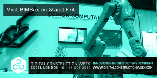 BIMBox Exhibit at DCW 2019 - Stand F74